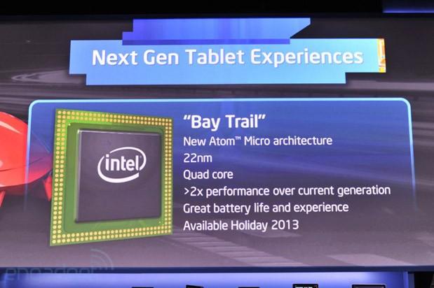 [CES 2013] Intel เปิดตัวชิป Atom รุ่นใหม่โค้ดเนม Bay Trail สำหรับแท็บเล็ต