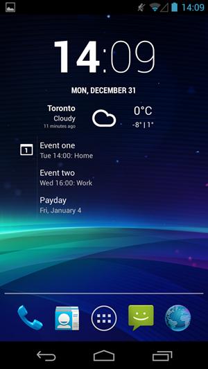 ทีม CyanogenMod พัฒนา widget นาฬิกาใช้เอง ในชื่อ Chronus