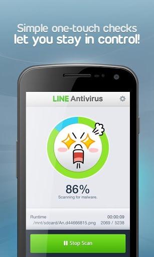 LINE ออก Antivirus สำหรับบน Android