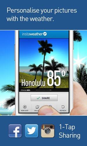 InstaWeather แอพถ่ายรูปพร้อมสภาพอากาศ ลงบน Android แล้ว