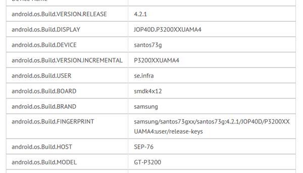 หลุดรายละเอียด Samsung Galaxy Tab 3 หน้าจอ 1280 x 800 มากับ Android 4.2