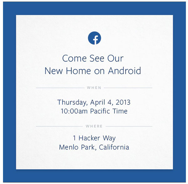 Facebook เตรียมเปิดตัวระบบปฏิบัติการ Facebook OS หรืออาจเป็น Facebook Phone ในคืนวันที่ 4 เมษายนนี้