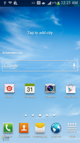 รูปหน้าจอ Samsung Galaxy IV ออกมาแล้ว เป็น Nature UX 2.0 ใช้โทนสีสว่าง