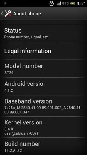 Sony Xperia J ได้รับอัพเดท Android 4.1.2 แล้ว