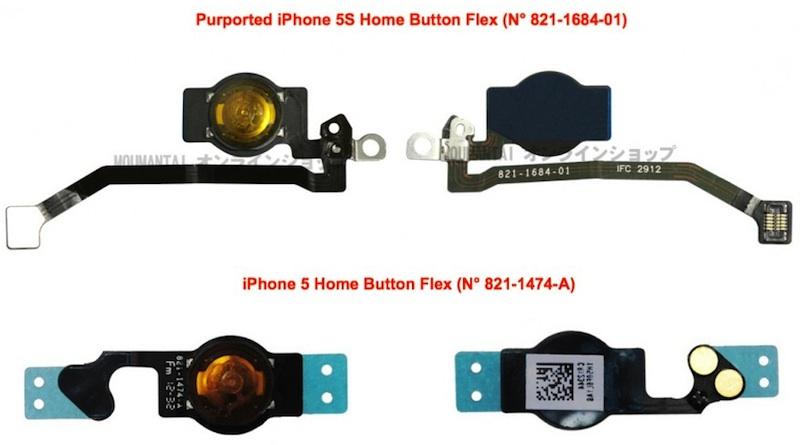 [ลือ] ภาพชิ้นส่วนว่าที่ iPhone 5S หลุดมาอีกครั้ง ทั้งปุ่มโฮม, มอเตอร์สั่นและแผงปุ่มปรับระดับเสียง