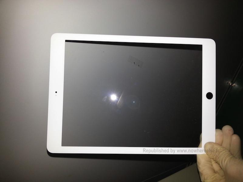 ภาพหลุดว่าที่ชิ้นส่วนกรอบจอ iPad 5 เริ่มมาแล้ว รูปทรงและความบางคล้าย iPad mini