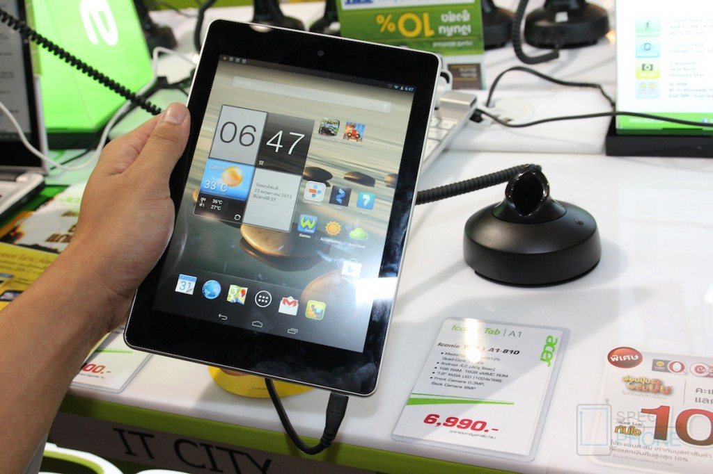 [Hands-on] แท็บเล็ต Acer Iconia A1 ในงาน Thailand Mobile Expo 2013 Hi-End (TME 2013)