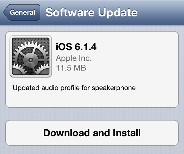 Apple เปิดให้ผู้ใช้ iPhone 5 อัพเดตเป็น iOS 6.1.4 ได้แล้ว มาพร้อมการอัพเดต Audio Profile เล็กน้อย
