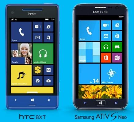 ออกอัพเดทเงียบๆ กับ Windows Phone 8 อีกสองเครื่อง HTC 8XT และ ATIV S Neo