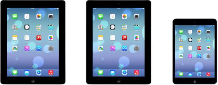หน้าตาที่น่าจะเป็นไปได้ของ iOS 7 บน iPad และ iPad mini
