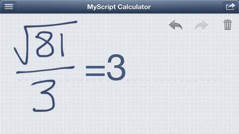 [App] MyScript Calculator คิดเลขสะดวก ไม่เปลืองสมอง
