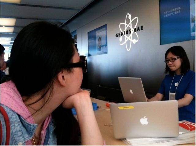 ชาวจีนหัวหมอ จองคิวนัด Genius Bar ยาวล่วงหน้าทั้งวัน เพื่อเอาคิวมาขายต่อแบบคิดกำไร