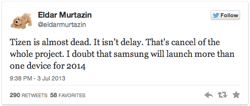 [ลือ] Tizen จาก Samsung ส่อแววล่ม หลังบล็อกเกอร์คนดังเปิดเผยข่าวจากวงใน