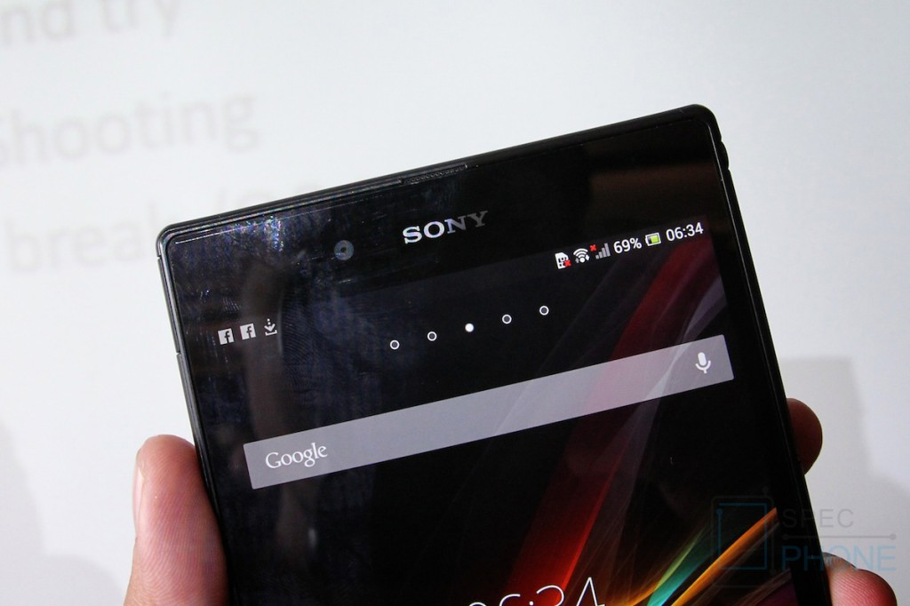 Sony Xperia Z Ultra Hands on Specphone 215