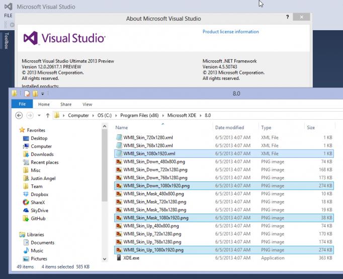 พบชุดพัฒนาแอพบน Windows Phone สนับสนุนหน้าจอระดับ 1080p ในVisual Studio 2013 เวอร์ชันพรีวิว