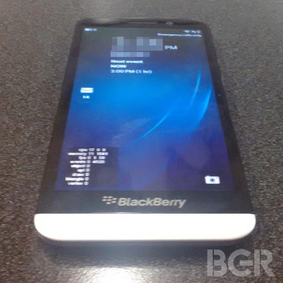 หลุด BlackBerry A10 สมาร์ทโฟน BlackBerry 10 จอ 5 นิ้ว