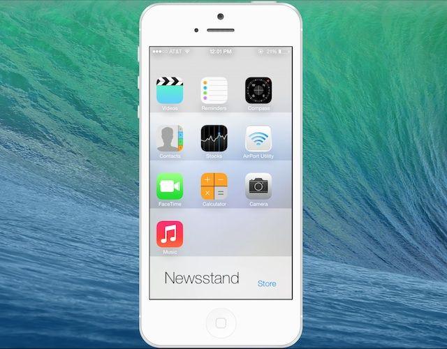 [Tip] iOS 7 Beta อนุญาตให้ผู้ใช้นำไอคอนแอพไปไว้ใน Newsstand ได้ชั่วคราว