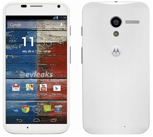 อัพเดทรายละเอียดของ Motorola X เพิ่มเติม : เครื่องสีขาว จอ 4.5 นิ้ว แบต 2200 mAh