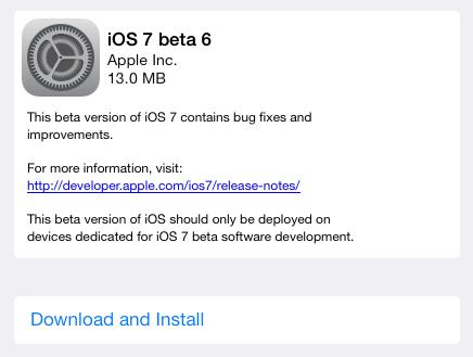 iOS 7 Beta 6 ออกมาแล้ว พร้อมปรับแก้บั๊กของฟีเจอร์ iTunes in the Cloud