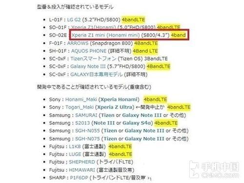 พบเอกสารยืนยันชื่อ Sony Xperia Z1 mini มีหน้าจอ 4.3 นิ้ว ใช้ Snapdragon 800 จริง