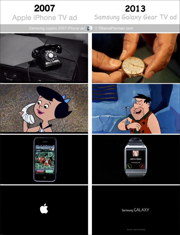 สื่อต่างประเทศชี้โฆษณา Samsung Galaxy Gear ลอกโฆษณา iPhone เมื่อปี 2007
