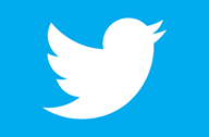 thumb twitter bird white on blue