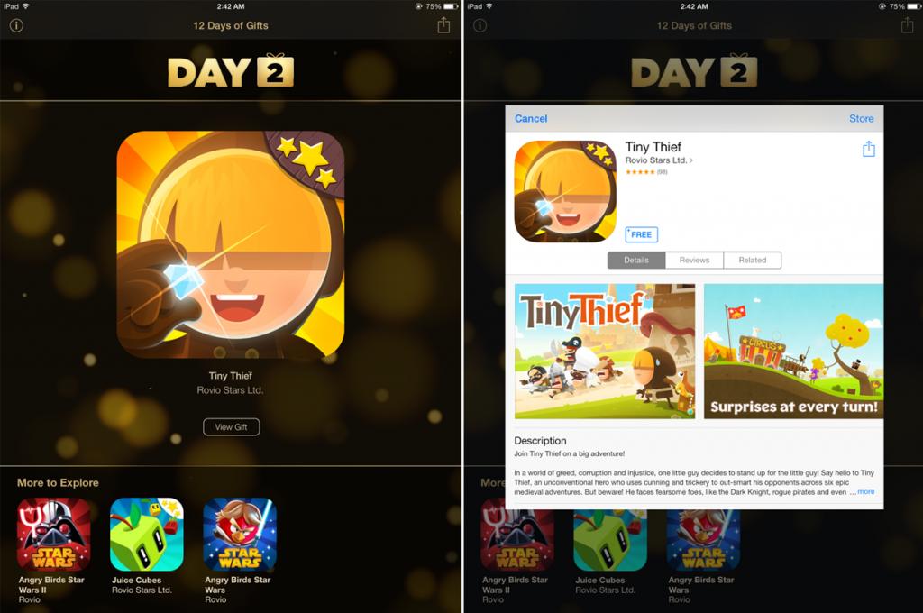 Apple แจกเกม Tiny Thief ฟรี จากแอพของขวัญ 12 Days of Gifts [Day 2]
