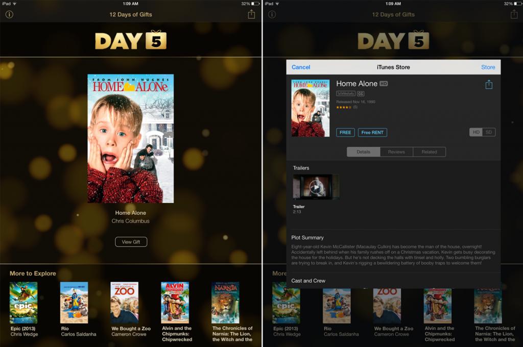 Apple แจกหนัง Home Alone ฟรี จากแอพของขวัญ 12 Days of Gifts [Day 5]