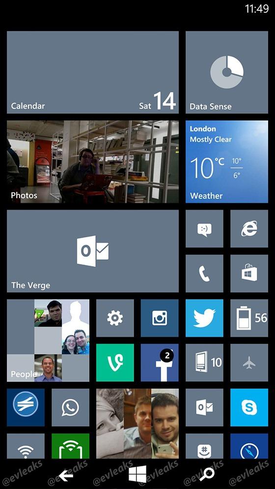 หลุดสกรีนช็อตแรก Windows Phone 8.1 เพิ่มปุ่มควบคุมเครื่องบนจอเป็นครั้งแรก