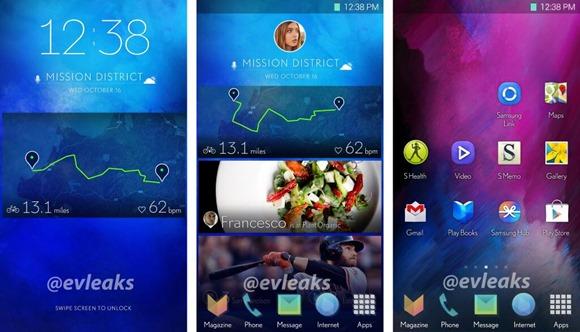 หลุดอินเตอร์เฟซสมาร์ทโฟนใหม่จาก Samsung อาจได้เห็นใน Galaxy S5