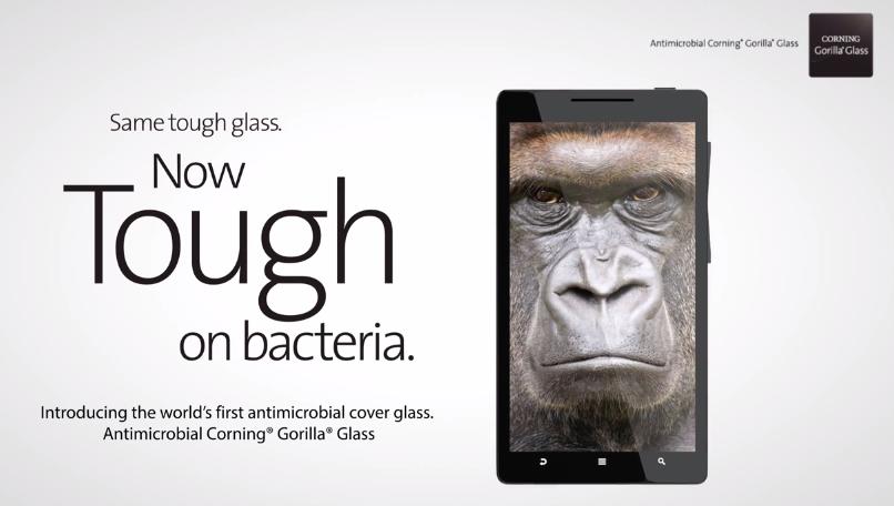 [CES 2014] Corning เปิดตัวกระจก Gorilla Glass แบบป้องกันเชื้อแบคทีเรียได้ในตัว