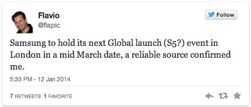 แหล่งข่าวรายงาน Samsung Galaxy S5 เตรียมเปิดตัวที่ลอนดอน กลางเดือนมีนาคมนี้ !!