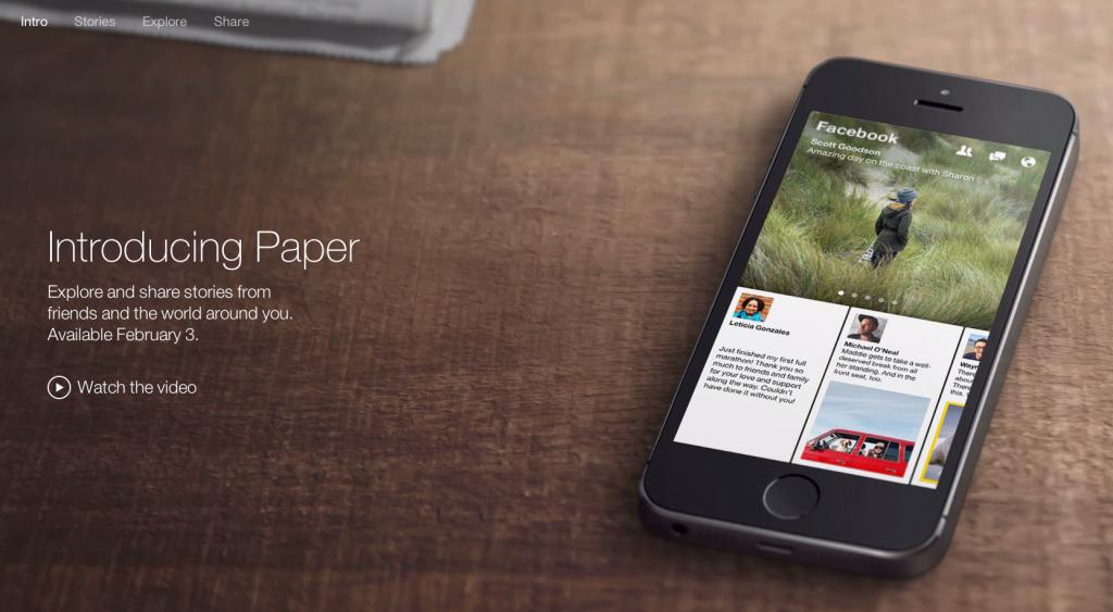 Facebook เปิดตัวแอพ Paper สำหรับอ่านฟีดแบบนิตยสาร พร้อมให้ชาว iOS ใช้งานเร็วๆ นี้