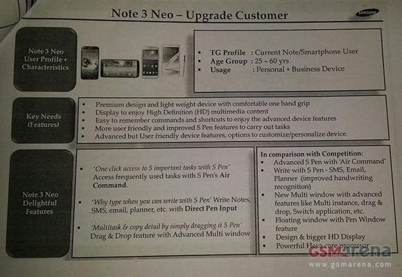 เผยสเปคเต็ม Galaxy Note 3 Neo รุ่นลดสเปคของ Note 3 ปัจจุบัน
