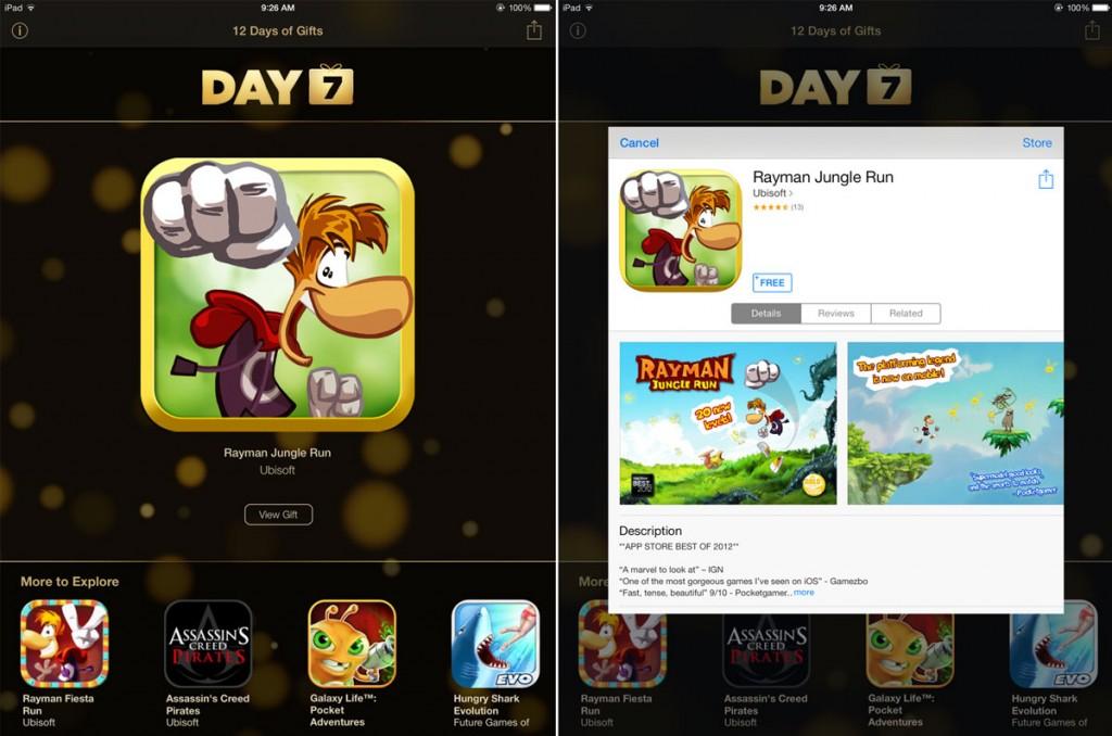Apple แจกเกม Rayman Jungle Run ฟรี จากแอพของขวัญ 12 Days of Gifts [Day 7]