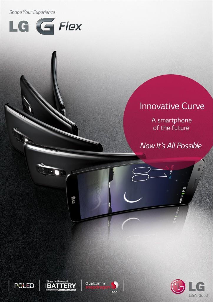 แอลจีพลิกโฉมวงการสมาร์ทโฟน ด้วย LG G Flex สมาร์ทโฟนจอโค้งเครื่องแรกของโลก
