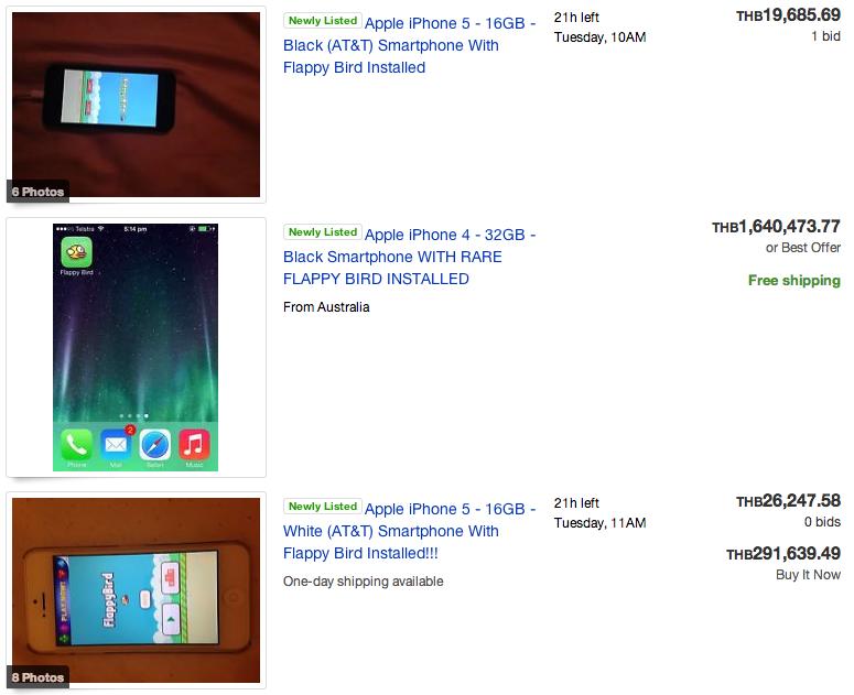 ของหายาก !! มีคนประกาศขาย iPhone พร้อมเกม Flappy Bird ในราคาสูงลิบ