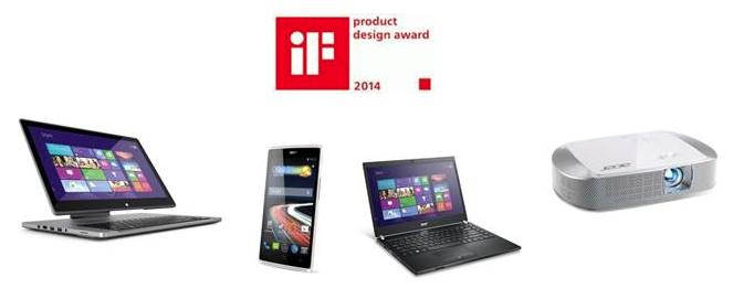 Acer คว้ารางวัลผลิตภัณฑ์ยอดเยี่ยม iF Product Design Award ประจำปี 2014 ถึง 4 รายการ