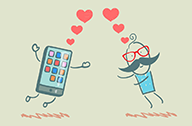 thumb Man In Love with Mobile