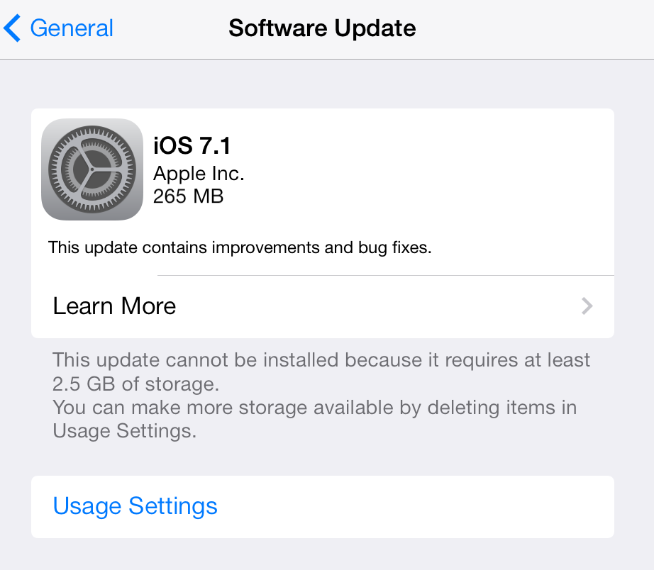 Apple ปล่อยอัพเดต iOS 7.1 ตัวเต็มแล้ว กดอัพได้ทันทีจากในเครื่อง ข้อมูลไม่หาย