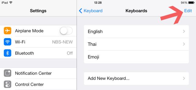 Edit Keyboard iPad
