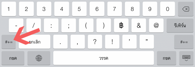 Number Keyboard iPad 2