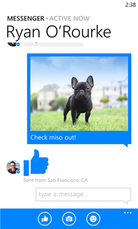 Facebook Messenger ลงบน Windows Phone 8 แล้ว