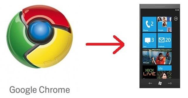 Google อาจจะเอา Chrome ไปลง Windows Phone