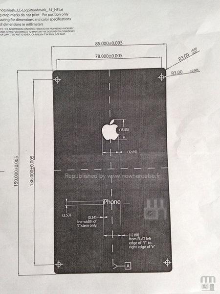 หลุด!! (อีกแล้ว) แผนภาพไดอะแกรมแสดงขนาดของ iPhone 6
