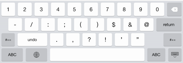 undo iPad