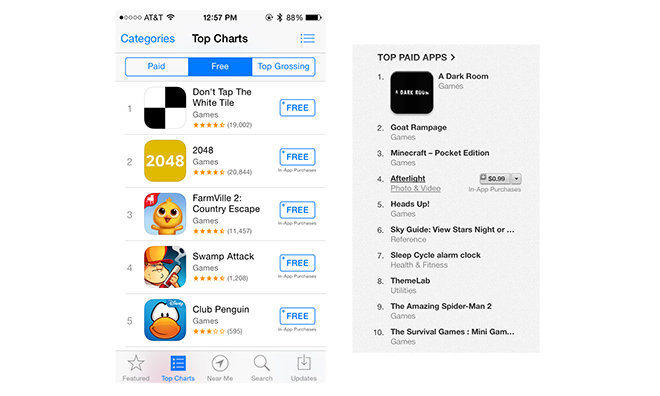 Apple เพิ่มคำว่า In-app purchase แปะไปในรายชื่อ iOS App Store, iTunes