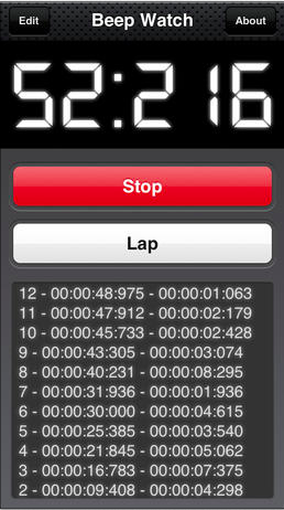 beepwatch - beeping circuit training stop watch