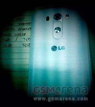 พบส่วนหลัง LG G3 ดีไซน์เปลี่ยนไปจากเดิม