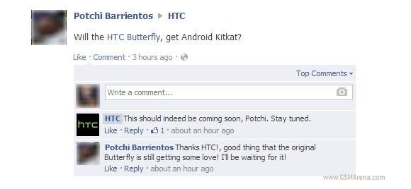 HTC Butterfly จะได้รับ Android 4.4 เร็วๆ นี้